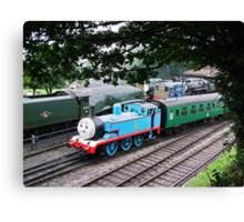 Thomas Leaves the Station  Canvas Print
