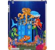 Blue Phone Booth Under the sea iPad Case/Skin