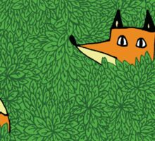 In the leaves - Foxes Sticker