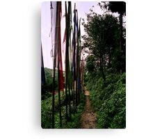 lungta, prayer flags. northenr sikkim, india Canvas Print