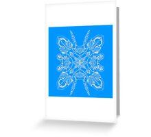 Robo Pattern Light Blue Greeting Card