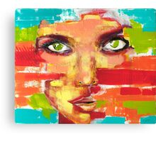 Woman face 01 Canvas Print