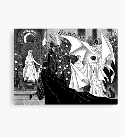 Persephone and Hades Canvas Print