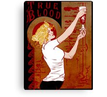 True Blood Nouveau red Canvas Print