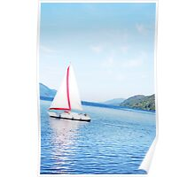 Sailing Boat on Loch Ness Poster