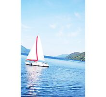 Sailing Boat on Loch Ness Photographic Print
