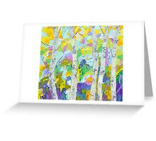 Dancing Birch Trees Greeting Card
