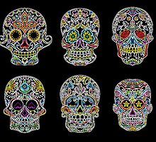 Glowing Skulls by BetteB