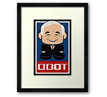 Ron Paul Politico'bot Toy Robot 2.0 Framed Print