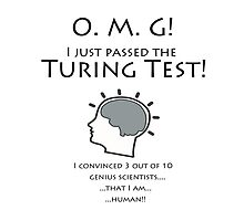 The Turing Test:   Convince 3 of 10 that you are HUMAN! by Kricket-Kountry