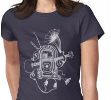 The Music Machine For Dark Shirts Womens Fitted T-Shirt