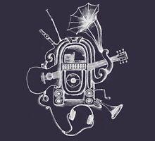 The Music Machine For Dark Shirts Womens Fitted T-Shirt