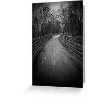 The Trail photos # 5...Through a dream..Lost in the mist..I have a come to an ancient door.. I have been there a hundred times or more..Pounding my fists..A boy goes in and suddenly a man returns Greeting Card