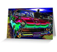 50s at the Drive-In Greeting Card