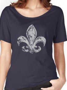 Grunge Fleur De Lis Women's Relaxed Fit T-Shirt