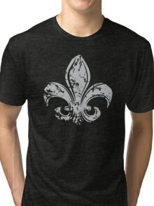 Grunge Fleur De Lis Tri-blend T-Shirt