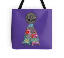 Make Art Not Barf Skull Rainbow Galaxy Illustration Tote Bag