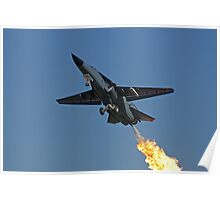 F-111 Takeoff Dump and Burn - Amberley Airshow 2008 Poster