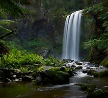 Hopetown Falls - Otways National Park, Victoria. Australia by Barrie Turpin