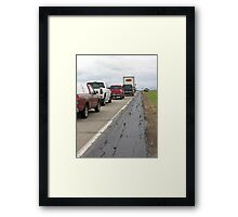 Rural Traffic Jam Framed Print