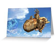 Flying Submarine 02 Greeting Card