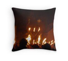 Fire work night Throw Pillow