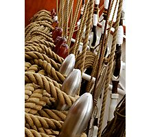 Rope Rigging Photographic Print