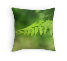 Profile in Green Throw Pillow