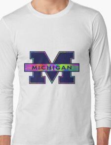 University of Michigan Logo  Long Sleeve T-Shirt