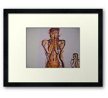 WOMEN WEEPING Framed Print