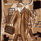 The Rabbit Business Men by robertemerald