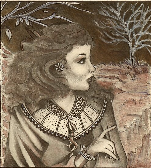 Emily Bronte in Wuthering Heights  by John Dicandia  ( JinnDoW )