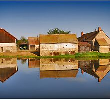 Reflected Farm by Adri  Padmos