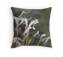 Wind calligraphy Throw Pillow