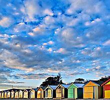 Brighton Beach Shacks #2 by Mark Boyle