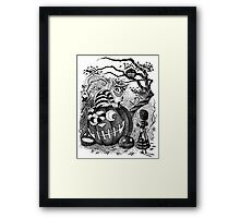 Alice and the Cheshire Cat, or A Very Merry Halloween in Wonderland Framed Print