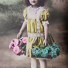 Vintage Flower Girl  by Jonathan  Green