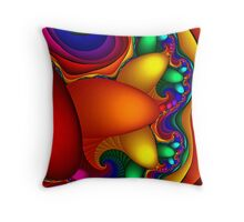 Slice Of Color Throw Pillow