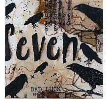Crow Count Seven Photographic Print