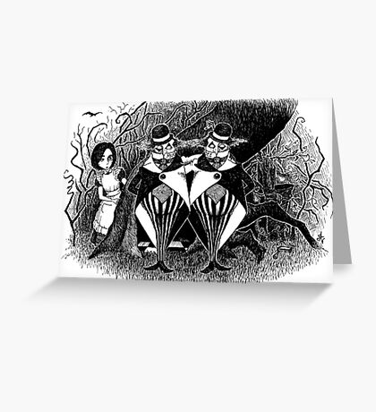 Tweedledum and eedeldeewT Greeting Card