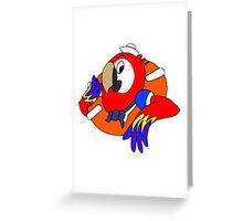 Sailor Parrot Greeting Card