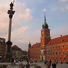 Castle Square at dusk, Warsaw by Elena Skvortsova