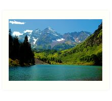 Mountain Lakes Art Print