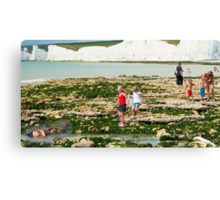 Mermaid at the Seven Sisters Birling Gap Sussex UK Canvas Print