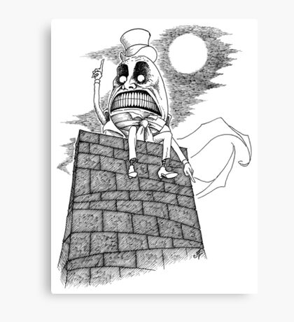 The Wrath of Humpty Dumpty Canvas Print