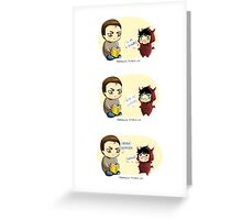 CHIBIBATCH - Dwagon Babylock 1 Greeting Card