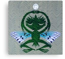 Haunted Solstice Moon Winged Thing Canvas Print