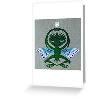 Haunted Solstice Moon Winged Thing Greeting Card