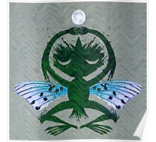 Haunted Solstice Moon Winged Thing Poster