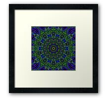 Blue Green Kaleidoscope 103 Framed Print